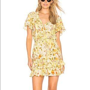 Sayulita Frill Mini Dress In Sunflower XL